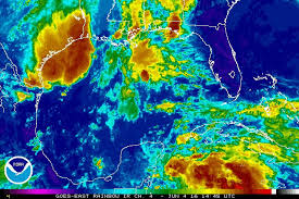 Satellite loop of Tropical Storm Colin from NOAA