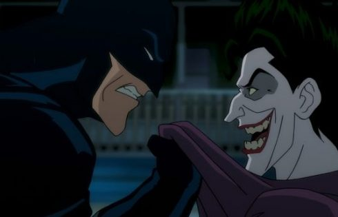 "Batman taking on The Joker in ""Batman: The Killing Joke"" photo courtesy of Fathom Events"