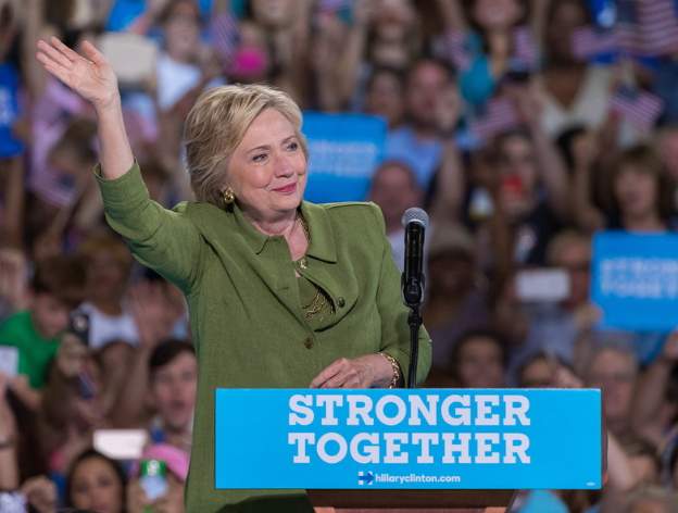 Hillary Clinton campaigning in Tampa, July 23, 2016 photo courtesy of Hillary For America