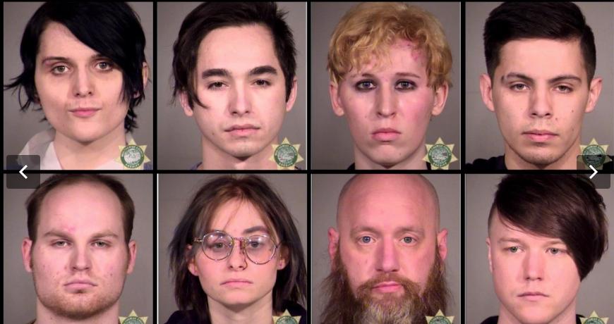 Antifa members arrest after attack on Portland on Joe Biden's first day as president